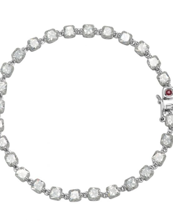 Bracelet en argent rhodum avec cubic zirconium