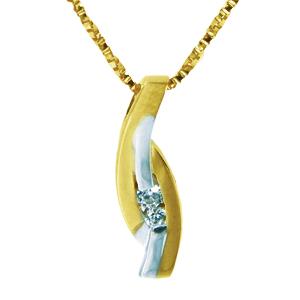 Pendentif en or 10k 2 tons ( blanc et jaune ) avec cubic.  Pour un ensemble harmonieux, voir les boucles d'oreilles 0485BO ainsi que la bague 0485B  Chaîne non incluse  Chaîne non incluse