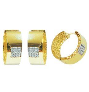 Huggies en or jaune 10k avec cubics