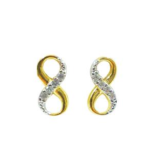 Points d'oreilles en or 10k avec cubics. Aussi disponible en or blanc
