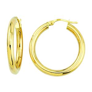 Boucles d'oreilles / Anneaux en or jaune 10k