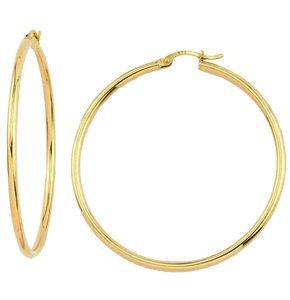 Boucles d'oreilles / Anneaux en or jaune 10k Disponible en 30 et 50 mm
