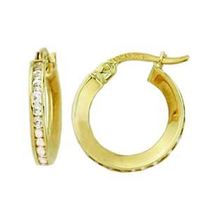 Anneaux or jaune avec cubics. disponible en or blanc 10k