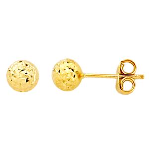 Point d'oreilles en or jaune 10k disponible en diamètre de 3, 4 et 5 mm. Texture Effet diamant  Les prix sont entre 43.00$ et 59.00$ selon les grosseurs. Contactez nous par téléphone ou par courriel!