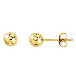 Point d'oreilles simple en or jaune 10k disponible en diamètre de 3, 4 et 5 mm.   Les prix sont entre 43.00$ et 59.00$ selon les grosseurs. Contactez nous par téléphone ou par courriel!