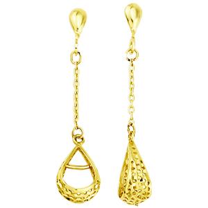 Boucles d'oreilles ajourées or 10k jaune