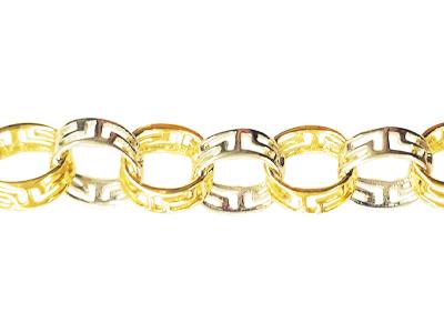 Bracelet style versace en or 2 tons 10k (blanc et jaune)