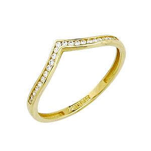 Bague semi-éternité à la forme diadème avec cubic. En or blanc 10k  Le prix peut varier selon la grandeur.
