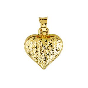 Pendentif cœur en argent 925 plaqué doré