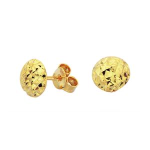 Points d'oreilles aux textures effet diamant en or jaune 10k
