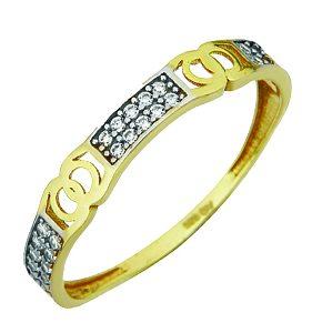 Jonc style chanel en or jaune 10k avec cubics  Le prix peut varier selon la grandeur