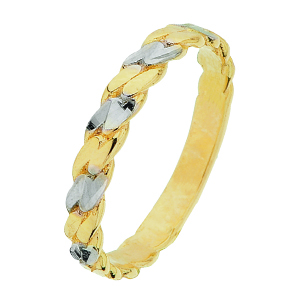 Bracelet style gourmette or 2 tons