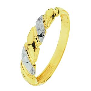 Bracelet style gourmette or 2 tons (jaune et blanc)